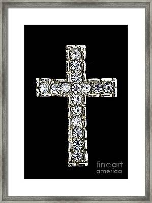 Diamond Cross Framed Print by IB Photo