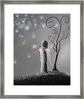 Diamond Fairy By Shawna Erback Framed Print by Shawna Erback