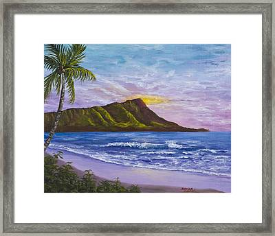 Diamond Head Framed Print by Darice Machel McGuire