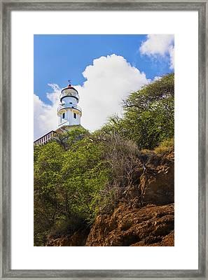 Diamond Head Lighthouse - Oahu Hawaii Framed Print by Brian Harig
