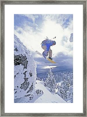 Diamond Peak, Lake Tahoe, Nevada, Usa Framed Print by Dan Sherwood