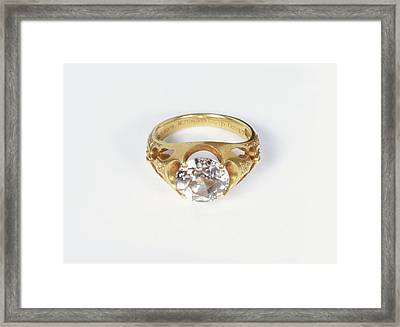 Diamond Ring Framed Print by Dorling Kindersley/uig