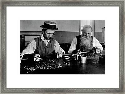 Diamond Sorting Framed Print by Patrick Landmann