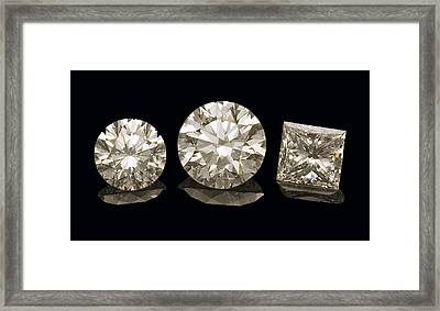 Diamonds Framed Print by Charles D. Winters