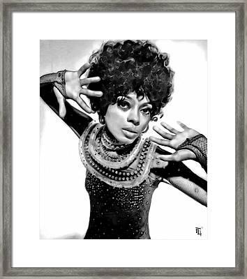 Diana Ross 2 Framed Print by  Fli Art