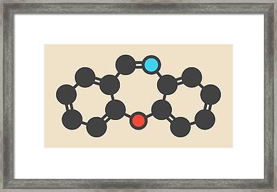 Dibenzoxazepine Tear Gas Molecule Framed Print by Molekuul