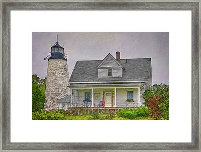 Dice Head Light Framed Print by Joan Carroll