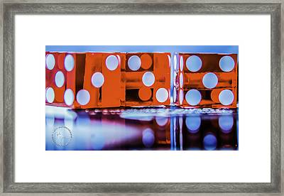 Dice Reflections Framed Print by John Jack