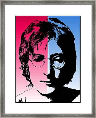 Dichotomous Lennon Framed Print by Daniel Hagerman