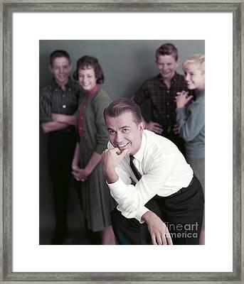 Dick Clark 1959 Framed Print by The Phillip Harrington Collection