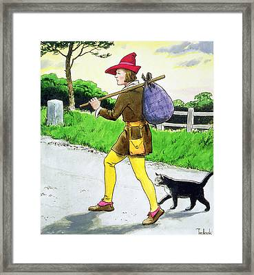 Dick Whittington And His Cat Framed Print by Trelleek