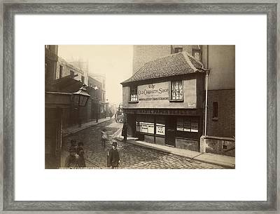 Dickens� Old Curiousity Shop Framed Print by Underwood Archives