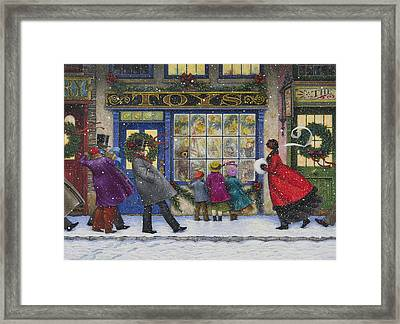 The Toy Shop Framed Print by Lynn Bywaters