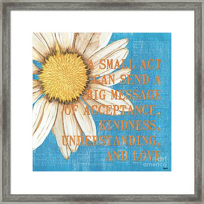 Dictionary Florals 4 Framed Print by Debbie DeWitt