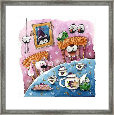 Did You Invite The Witch To Tea Framed Print by Lucia Stewart