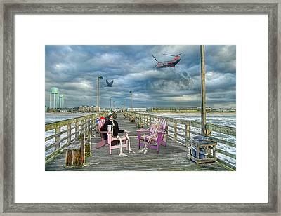 Die Hard Fishermen Framed Print by Betsy Knapp