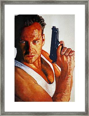 Die Hard Framed Print by Michael Haslam