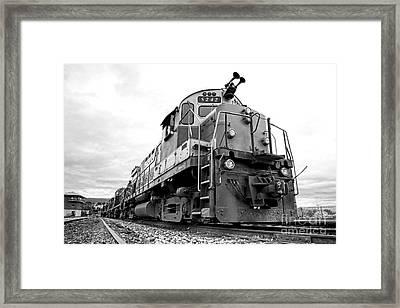 Diesel Electric Locomotive Framed Print by Olivier Le Queinec