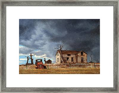 Different Day At The Homestead Framed Print by Paul Krapf