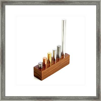 Different Density Metals Framed Print by Science Photo Library