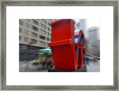 Different Slant To Love Framed Print by Paulette B Wright