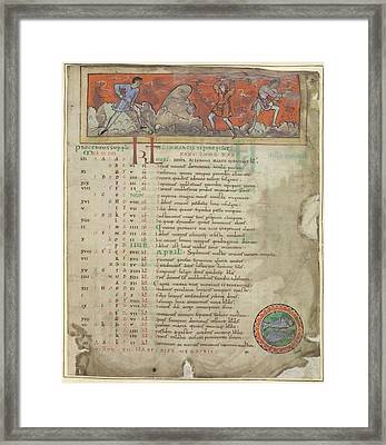 Digging And Sowing Framed Print by British Library