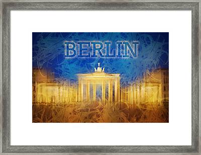 Digital-art Brandenburg Gate II Framed Print by Melanie Viola