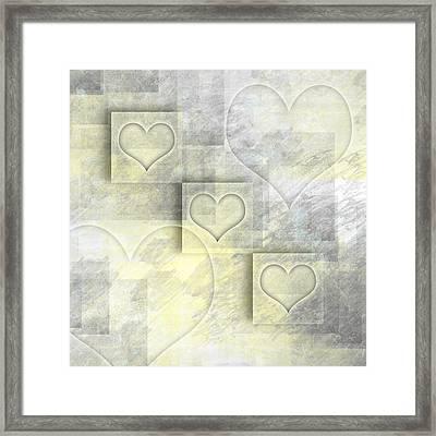 Digital-art Hearts II Framed Print by Melanie Viola