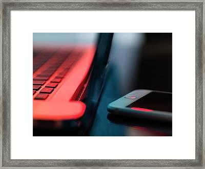 Digital Communication Framed Print by Tek Image