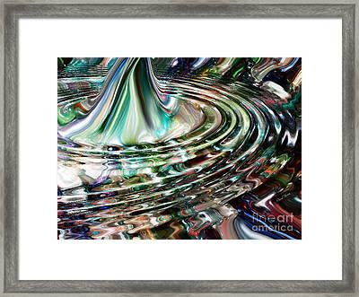 Digital Liquid Framed Print by Cheryl Young