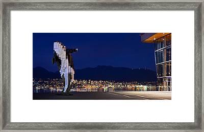 Digital Orca Framed Print by Alexis Birkill