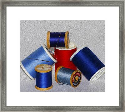 Digital Paint Thread Framed Print by Camille Lopez