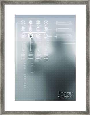 Digital User Interface Framed Print by Carlos Caetano
