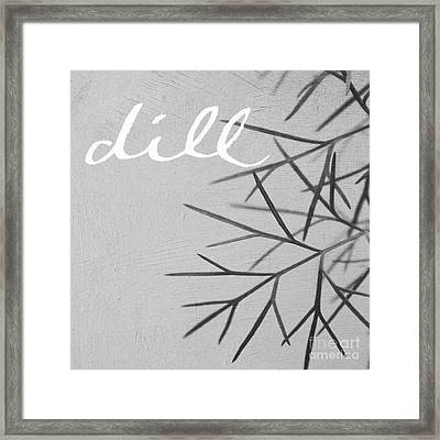 Dill Framed Print by Linda Woods