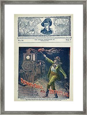 Dime Novel Cover, 1900 Framed Print by Granger