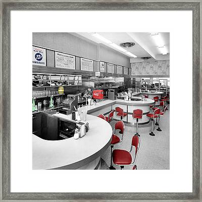 Diner 3 Framed Print by Andrew Fare