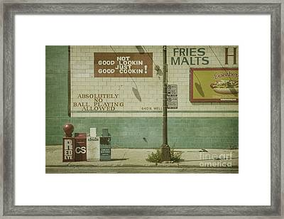 Diner Rules Framed Print by Andrew Paranavitana