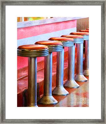 Diner - V1 Framed Print by Wingsdomain Art and Photography