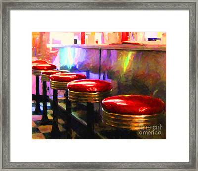 Diner - V2 - Horizontal Framed Print by Wingsdomain Art and Photography