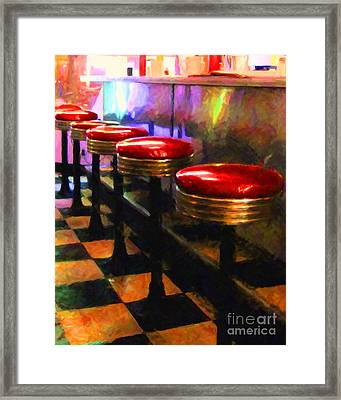 Diner - V2 Framed Print by Wingsdomain Art and Photography