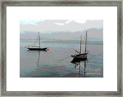 Dingies Late Afternoon Framed Print by Anthony Morretta