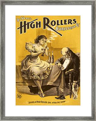 Dining A High Roller Girl After The Show Framed Print by Aged Pixel