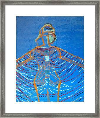 Dinka Corset Framed Print by Gloria Ssali