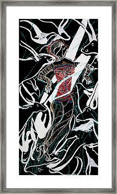 Dinka Dance Framed Print by Gloria Ssali