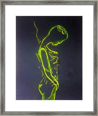 Dinka Painted Lady Framed Print by Gloria Ssali