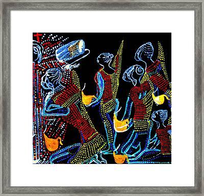 Dinka Wise Virgins Framed Print by Gloria Ssali