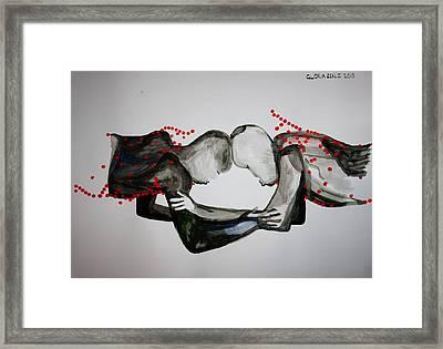 Dinka Wrestling - South Sudan Framed Print by Gloria Ssali