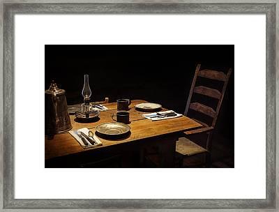Dinner Awaits Framed Print by Priscilla Burgers