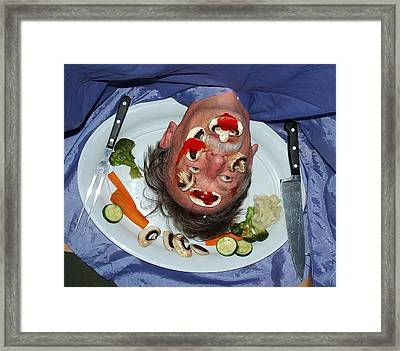 Dinner For Salome Framed Print by Alex Mortensen