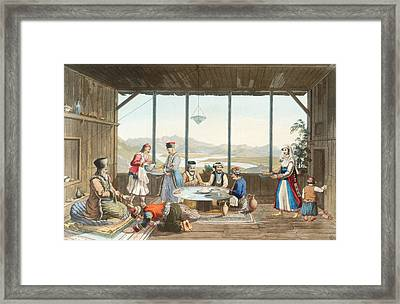 Dinner Held At Delphi In Honour Framed Print by Edward Dodwell